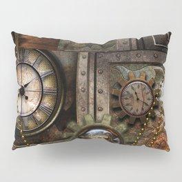Steampunk, wonderful clockwork with gears Pillow Sham