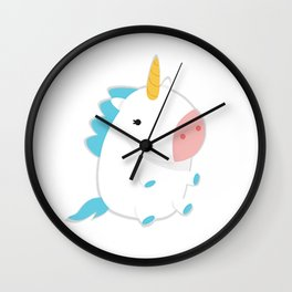 Super Fluffy Unicorn Wall Clock