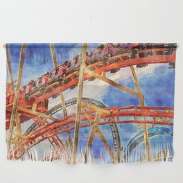 Fun on the roller coaster, close up Wall Hanging