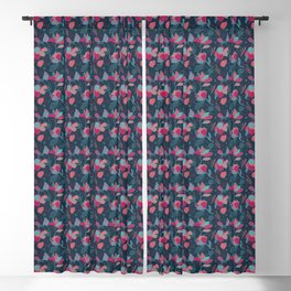 Colorful flowers Blackout Curtain