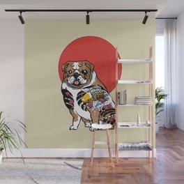 Yakuza English Bulldog Wall Mural