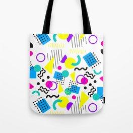 90's Neon Geometric Tote Bag