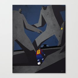 Leo and the monsters Canvas Print