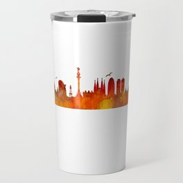 Barcelona City Skyline Hq _v1 Travel Mug