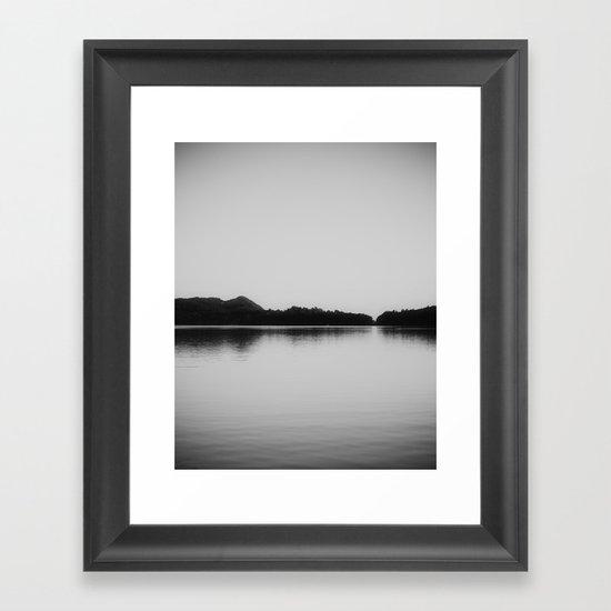 Herring Lake Black and White Framed Art Print