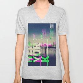 NEW YORK (GLITCH CITY #54) Unisex V-Neck