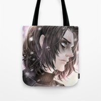 the winter soldier Tote Bags featuring Winter Soldier by Lüleiya