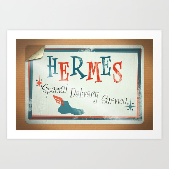 Hermes Special Delivery Service Art Print