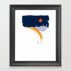 Siena skyline Framed Art Print