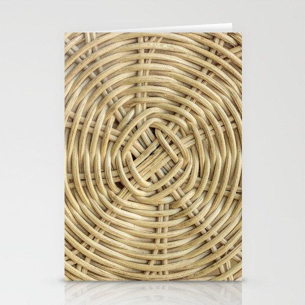 Rattan wickerwork texture Stationery Cards