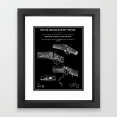 Breech Loading Rifle Patent - Black Framed Art Print