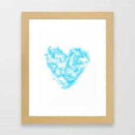 Feathers heart Framed Art Print