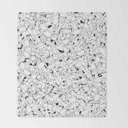 Chess Pattern WHITE Throw Blanket