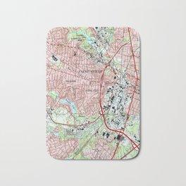 Fayetteville North Carolina Map (1997) Bath Mat