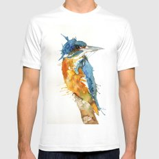 Mr Kingfisher White Mens Fitted Tee MEDIUM