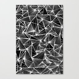 Triangular Texture - Inverted/Bleached Canvas Print
