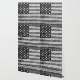 USA flag - Grayscale high quality image Wallpaper