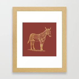 Gold donkey on chili oil Framed Art Print