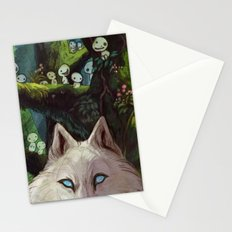 Wolf Princess in the Forest Stationery Cards