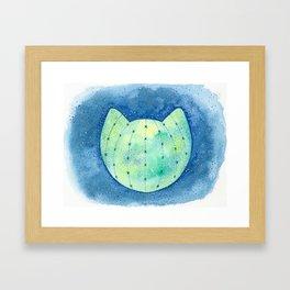 Cat-tus Planet Framed Art Print