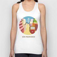 san francisco Tank Tops featuring San Francisco by uzualsunday