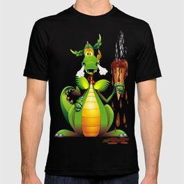 Fun Dragon Cartoon with melted Ice Cream T-shirt