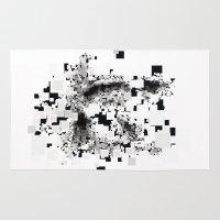 leonardo dicaprio Area & Throw Rugs featuring Leonardo Inside by JuanOsborne