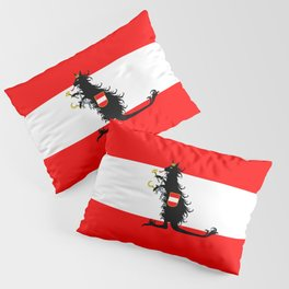 Australia - Kangaroo on Austrian Flag Pillow Sham