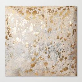 Gold Hide Print Metallic Canvas Print