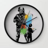 Turmoil Paint Wall Clock