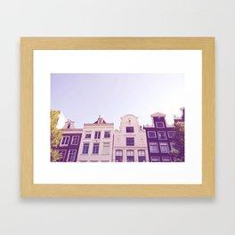 Canal houses Framed Art Print