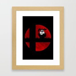 Smash and Laugh (red) Framed Art Print