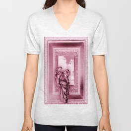 Angel of Bristol (Pink Inverted) Unisex V-Neck