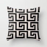 greek Throw Pillows featuring Greek Key by Charlene McCoy