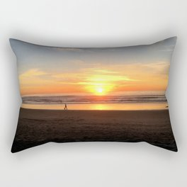 WALKING ON THE BEACH AT SUNSET Rectangular Pillow