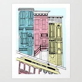 San Francisco Victorian Houses Art Print