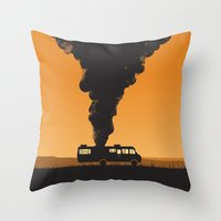 cooking Throw Pillows featuring Cooking by Jonathan Hogan