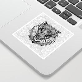 lion aztec art pattern Sticker