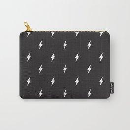 Lightning Bolt Pattern Black & White Carry-All Pouch