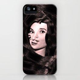 Audrey Hepburn Abstract iPhone Case