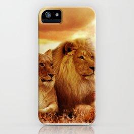 Lion couple | Couple de Lion iPhone Case