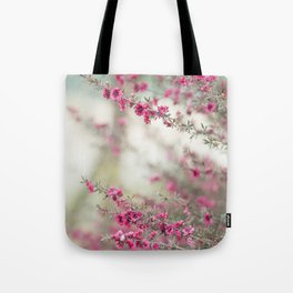pink flowers  Tote Bag