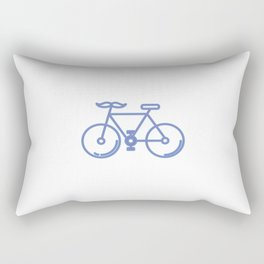Mustache Bike Rectangular Pillow