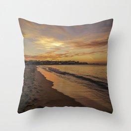 Last light on the Port Throw Pillow