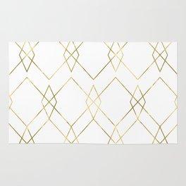 Gold Geometric Rug