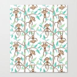 Monkey Jungle Canvas Print
