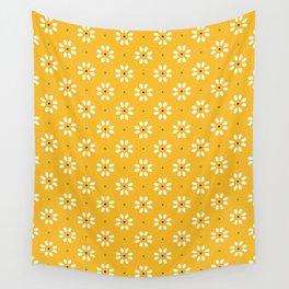 Daisy stitch - yellow Wall Tapestry