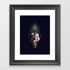 Falling from the Space Framed Art Print