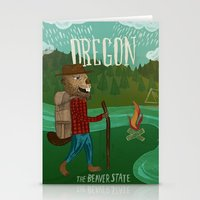 oregon Stationery Cards featuring Oregon by Santiago Uceda