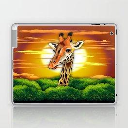 Giraffe on Wild African Savanna Sunset Laptop & iPad Skin